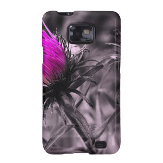 colour flower with black and white galaxy SII case