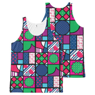 colour full pattern All-Over-Print tank top