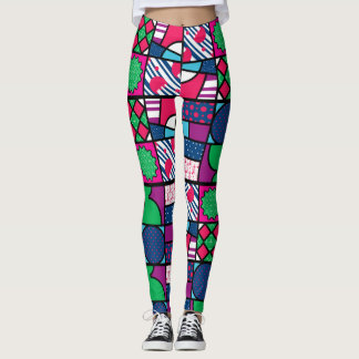 colour full pattern leggings