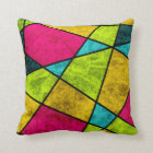 Colour glass abstract geometric by EDrawings38 Throw Pillow