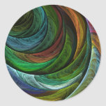 Colour Glory Abstract Art Round Sticker