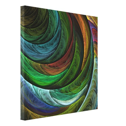 Colour Glory Abstract Art Wrapped Canvas Print