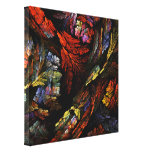 Colour Harmony Abstract Art Wrapped Canvas Print