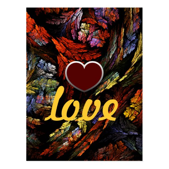 Colour Harmony Love Postcard