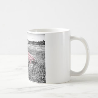 Colour Isolated Vintage Car in Field Coffee Mug