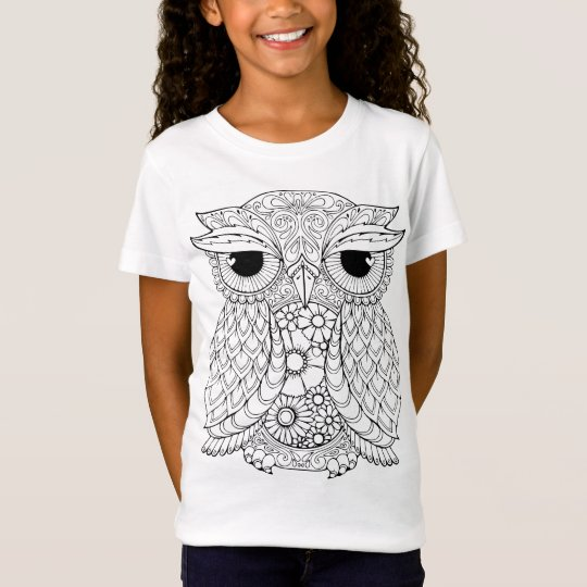 Colour-Me Collection Owl T-shirt
