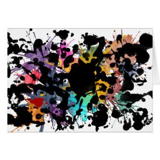 colour my life/Farbklekse   Black Ink Card