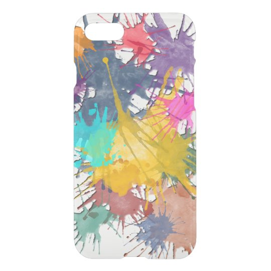 Colour my life splatter + your background iPhone 7 case