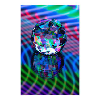 Colour of facets in glass. stationery