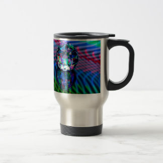 Colour of facets in glass. travel mug