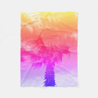 Colour Palm Tree Blanket