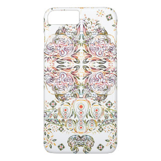 Colour Pencil Psychedelic Skull iPhone 7 Plus Case