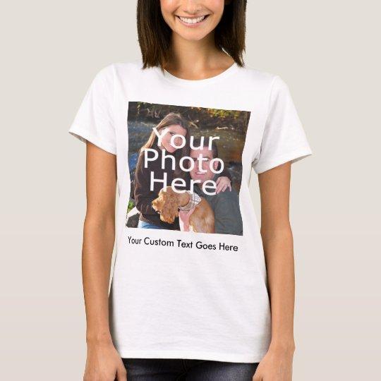 Colour Photo and Message Women's T-Shirt