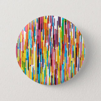 Colour Pikes Pattern 2 Inch Round Button