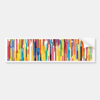 Colour Pikes Pattern Bumper Sticker