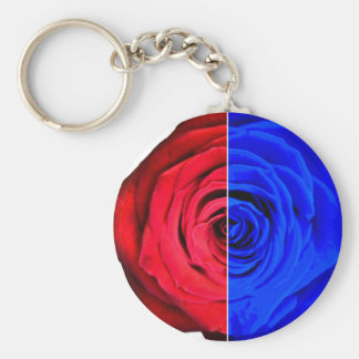 Colour Rose Basic Round Button Keychain
