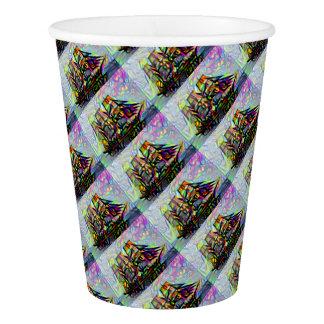 Colour ship paper cup