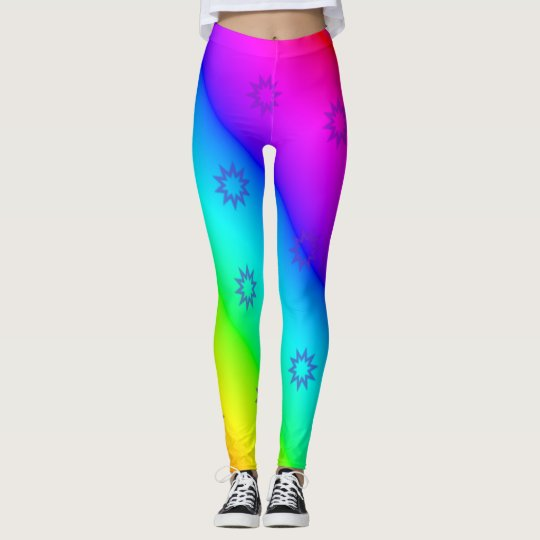 Colour Spectrum and Sprockets Leggings/Stretch Leggings