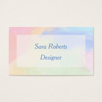 Colour splash business card