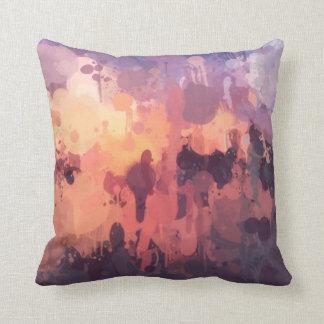 Colour splash cushion - reds
