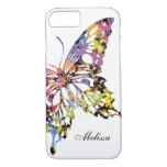 Colour Splashed Butterfly iPhone 7 case
