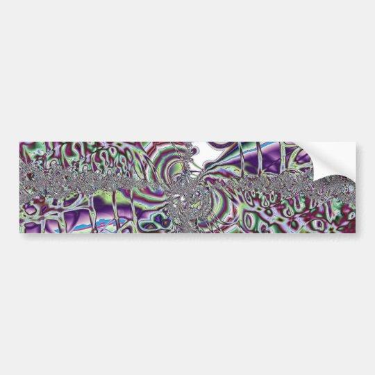 Colour Storm - Fractal Art Bumper Sticker