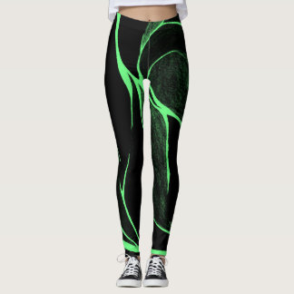 Colour Twist (Green/Black) Leggings