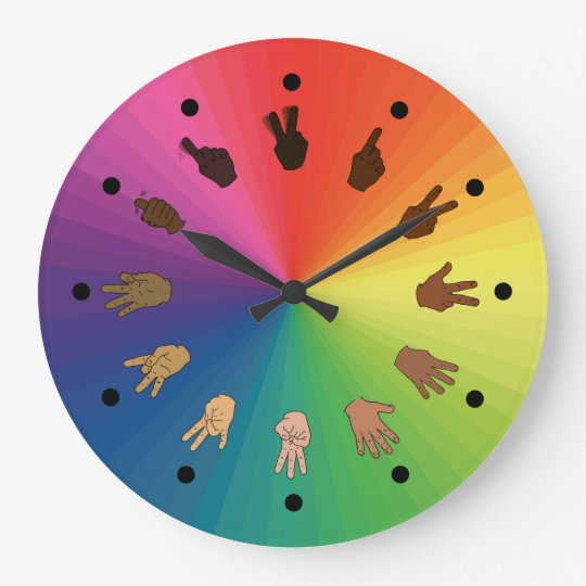 Colour Wheel ASL Clock (Minute segments)