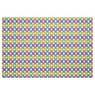 Colour Wheel Gems - spectrum repeat pattern design Fabric