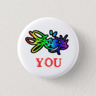 [colour] you 1 inch round button