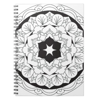 Colour-Your-Own Floral Mandala 060517_4 Notebooks