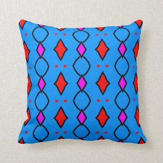 Coloured, blue decorative cushion shining with throw pillow