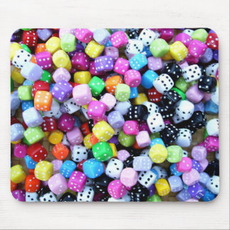 Coloured Dice. Mouse Pad