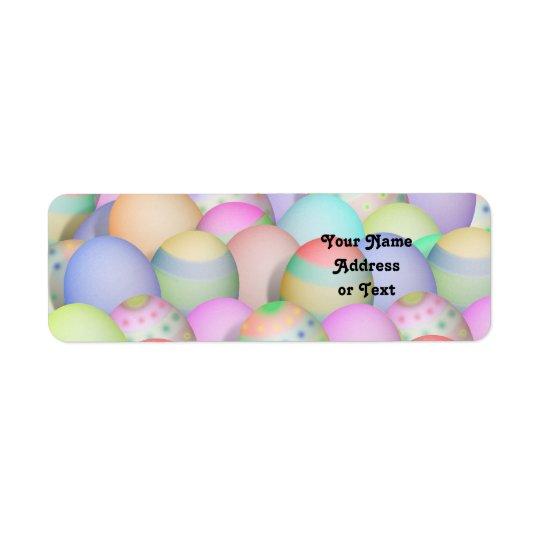 Coloured Easter Eggs Background Return Address Label
