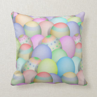 Coloured Easter Eggs Background Throw Pillow