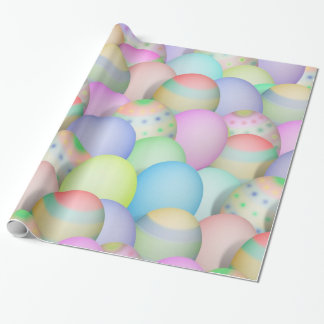 Coloured Easter Eggs Background Wrapping Paper