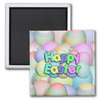 Coloured Easter Eggs - Happy Easter Magnet