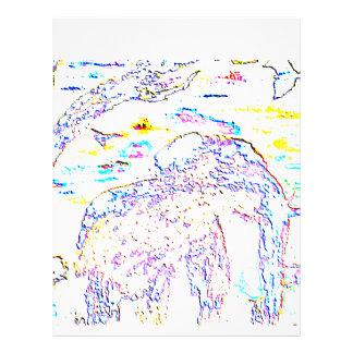 Coloured Elephant Stationary Customized Letterhead