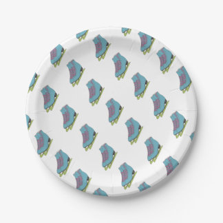 Coloured Figure Skates Birthday Party Supplies Paper Plate