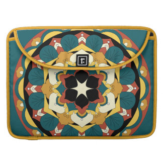 Coloured Floral Mandala 060517_4 Sleeve For MacBook Pro
