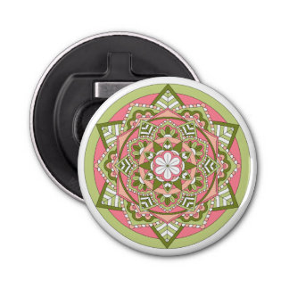 Coloured Floral Mandala 061117_1 Bottle Opener