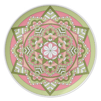 Coloured Floral Mandala 061117_1 Plate
