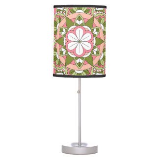 Coloured Floral Mandala 061117_1 Table Lamp
