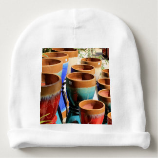 Coloured garden plant pots baby beanie