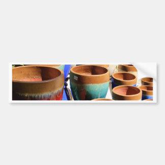 Coloured garden plant pots bumper sticker