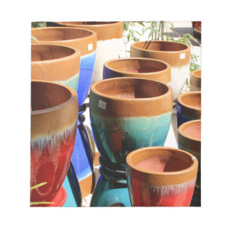 Coloured garden plant pots notepad