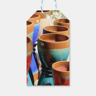 Coloured garden plant pots pack of gift tags