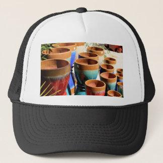 Coloured garden plant pots trucker hat