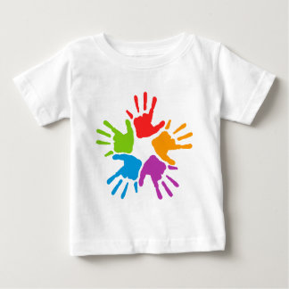 Coloured Hands Baby T-Shirt