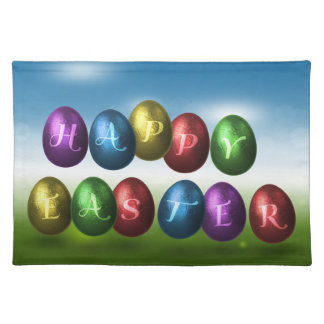 Coloured Happy Easter Eggs - Placemat